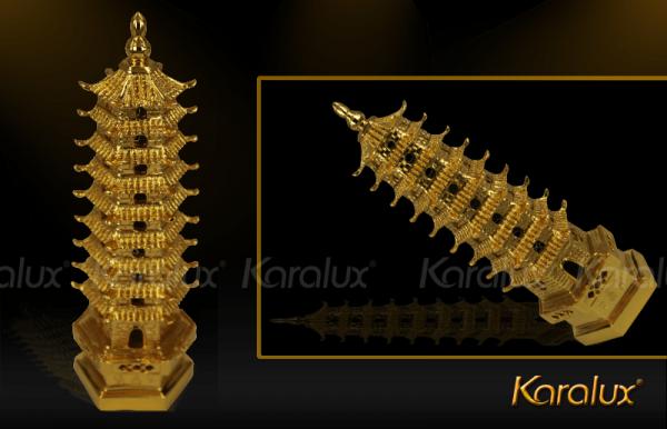 Tháp Văn Xương đúc đồng mạ vàng - MHK-0011-C18 2