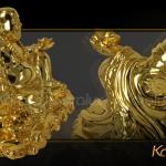 Tượng Phật Di Lặc tài lộc mạ vàng đem lại may mắn 2