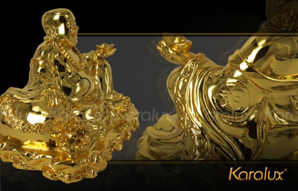 Tượng Phật Di Lặc tài lộc mạ vàng đem lại may mắn 1