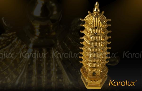 Tháp Văn Xương đúc đồng mạ vàng - MHK-0011-C18 1