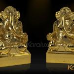 Thần voi Ganesha mạ vàng may mắn và thông thái 6