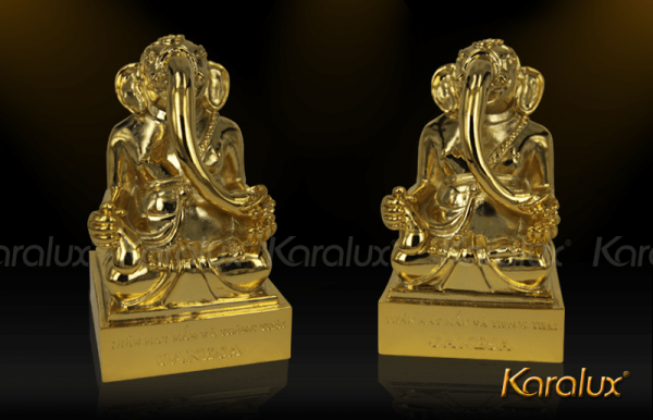 Thần voi Ganesha mạ vàng may mắn và thông thái 3