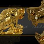 Hổ phong thủy mạ vàng cao cấp - TLV-DAN1-C12 3