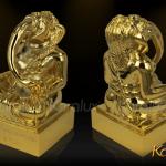 Thần voi Ganesha mạ vàng may mắn và thông thái 4