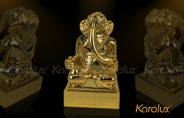 Thần voi Ganesha mạ vàng may mắn và thông thái 1