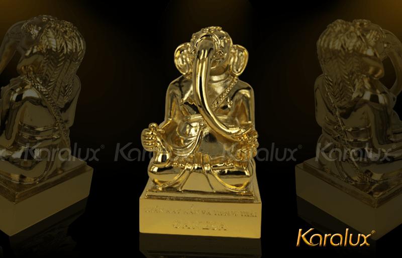 Thần voi Ganesha mạ vàng may mắn và thông thái 8
