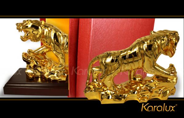 Tượng hổ phong thủy mạ vàng 24k