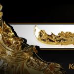 Tượng Quan Công mạ vàng cầu tài hóa sát 8