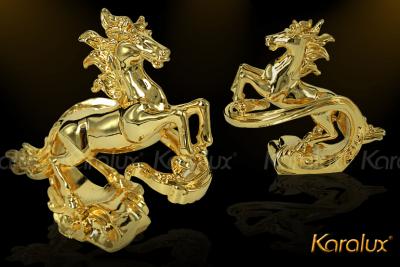 Tượng ngựa phong thủy mạ vàng, dát vàng 24K