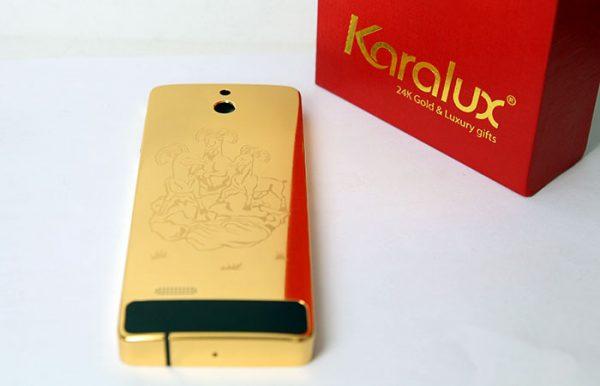 Nokia 515 mạ vàng khắc hình Dê phong thủy 2