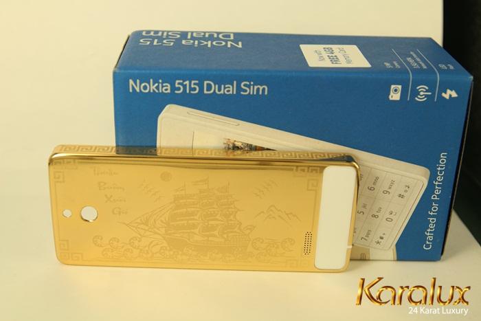 Nokia 515 mạ vàng Thuận buồm xuôi gió