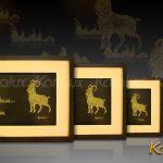 Bức tranh Dê phú quý mạ vàng 3