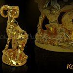Tượng Dê thịnh vượng mạ vàng - TLV-MUI2-C15 6
