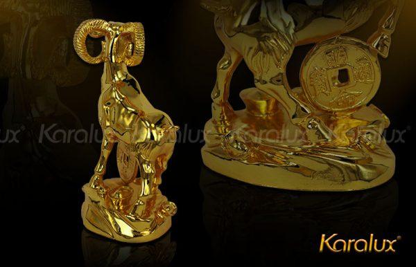 Tượng Dê thịnh vượng mạ vàng - TLV-MUI2-C15 3