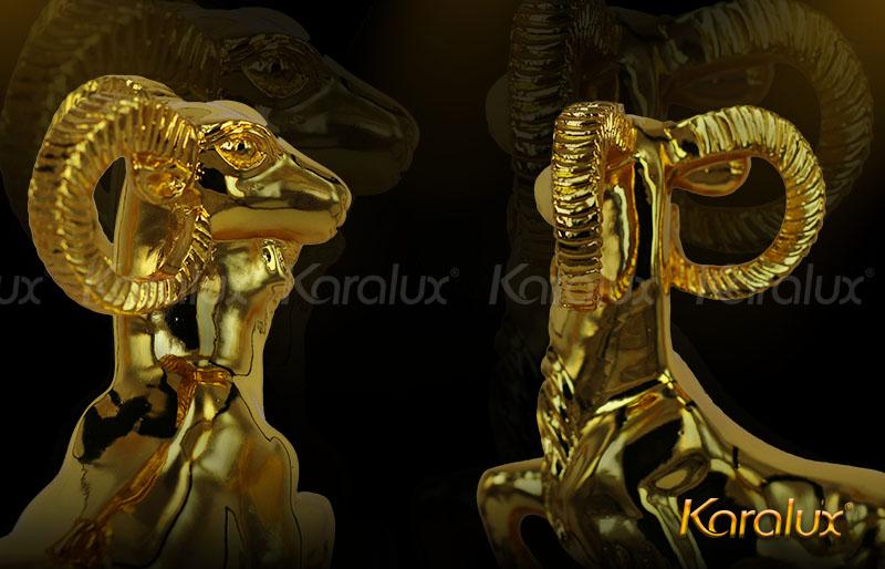 Tượng Dê thịnh vượng mạ vàng - TLV-MUI2-C15 9