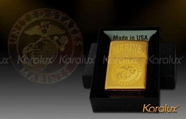 zippo mạ vàng 24K mang thương hiệu Karalux