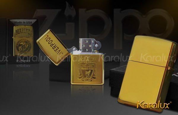 Bật lửa Zippo chính hãng mạ vàng - VDK-0003 3