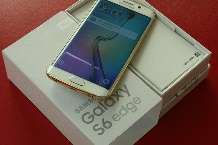 Samsung Galaxy S6 và Edge mạ vàng 19