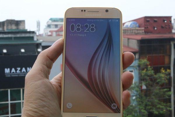 Samsung Galaxy S6 và Edge mạ vàng 1