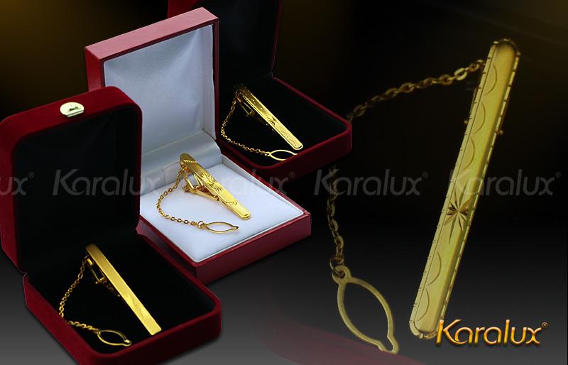 Kẹp cà vạt cao cấp mạ vàng - VDK-0004 8