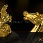 Tượng ngựa mạ vàng (loại nhỏ) - TLV-12CG7-1 3