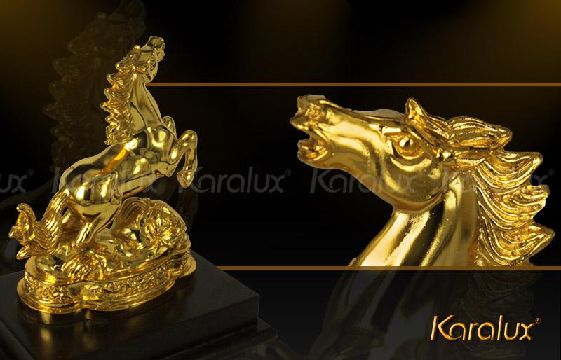 Tượng ngựa mạ vàng (loại nhỏ) - TLV-12CG7-1 6