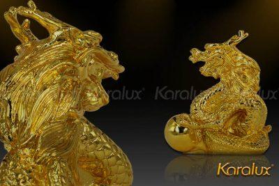 Tượng Rồng thời Lý mạ vàng 14