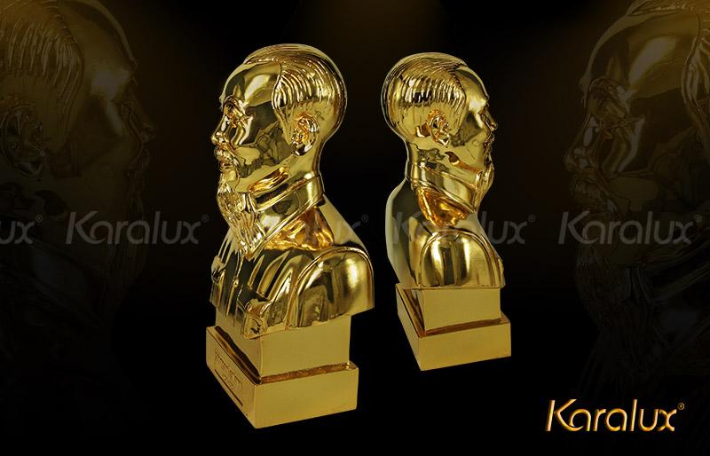 Tượng bác Hồ bán thân mạ vàng - TDN-0001-C25 6