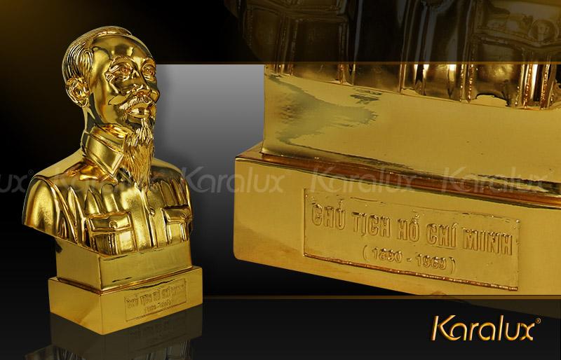 Tượng bác Hồ bán thân mạ vàng - TDN-0001-C25 4