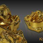 Gạt tàn thuốc lá hình con giáp mạ vàng - VDK-0009 3