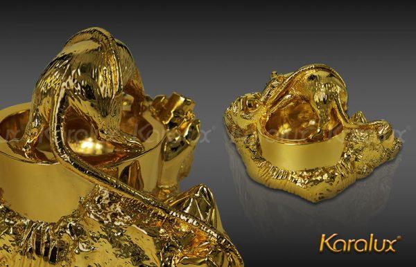 Gạt tàn thuốc lá hình con giáp mạ vàng - VDK-0009 2