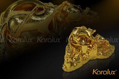 Tượng Chuột phong thủy mạ vàng 8
