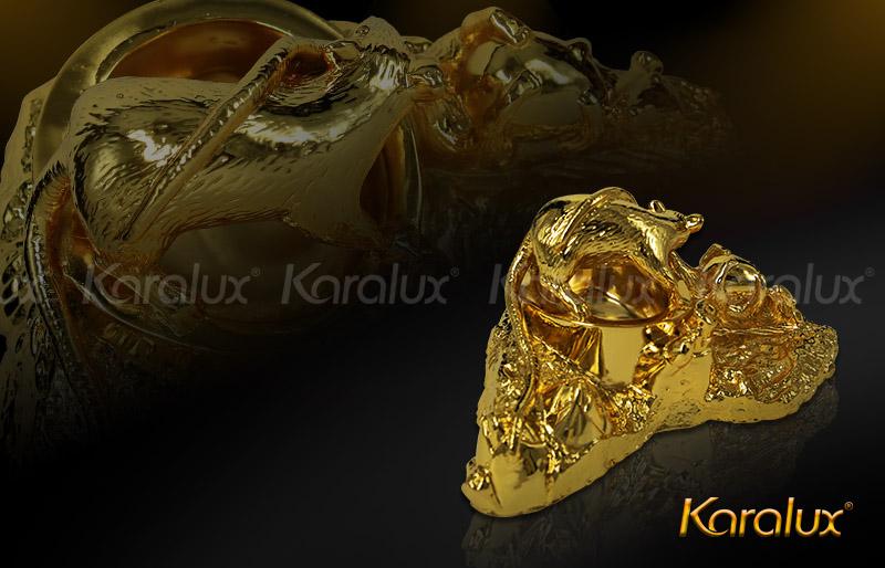 Gạt tàn thuốc lá hình con giáp mạ vàng - VDK-0009 5