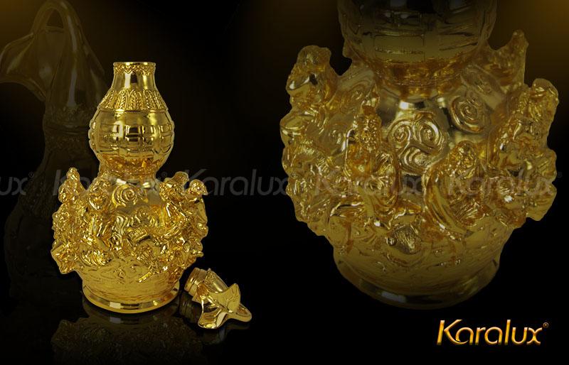 Hồ lô bát tiên mạ vàng đem lại may mắn - DPT-0001-C21 9