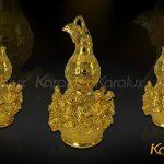 Hồ lô bát tiên mạ vàng đem lại may mắn - DPT-0001-C21 4