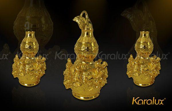 Hồ lô bát tiên mạ vàng đem lại may mắn - DPT-0001-C21 2