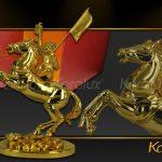 Tượng Mã thượng phong hầu mạ vàng ( mẫu 2 ) 6