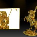 Tượng Mã thượng phong hầu mạ vàng ( mẫu 2 ) 4