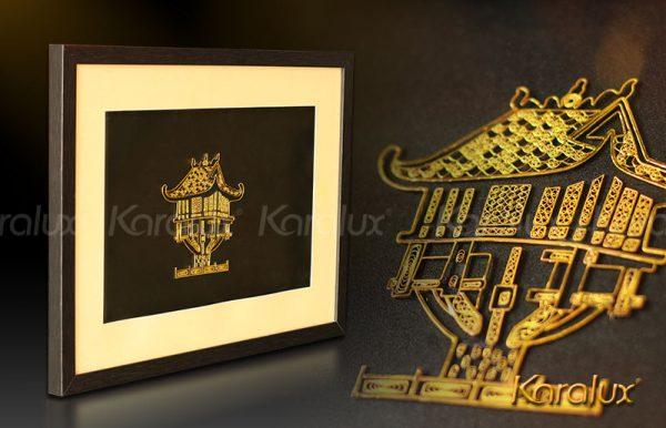 Bức tranh Chùa Một Cột mạ vàng 1