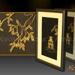 Bức tranh Tháp Rùa Hà Nội mạ vàng 3