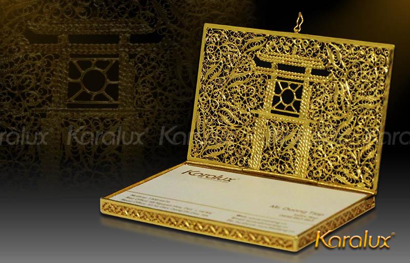 Hộp danh thiếp Khuê Văn Các mạ vàng 8