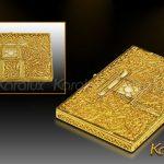 Hộp danh thiếp Khuê Văn Các mạ vàng 6
