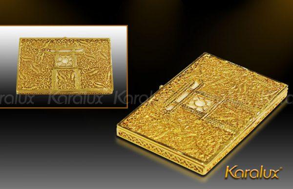 Hộp danh thiếp Khuê Văn Các mạ vàng 3