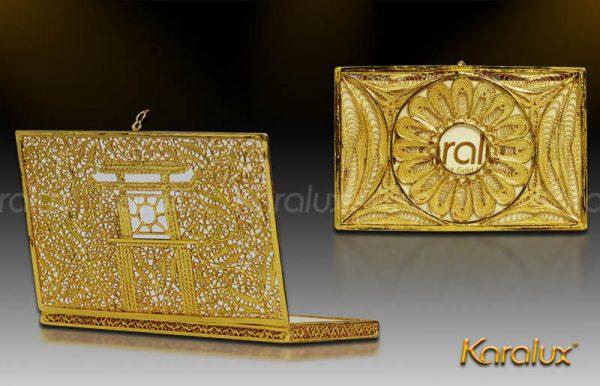 Hộp danh thiếp Khuê Văn Các mạ vàng 1