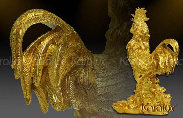 Tượng Gà vàng tài lộc - TLV-DAU2-C22 1