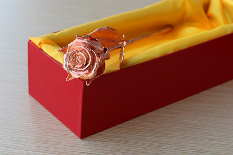 Hoa hong vang | Hoa hồng đúc đồng mạ vàng hồng quyến rũ