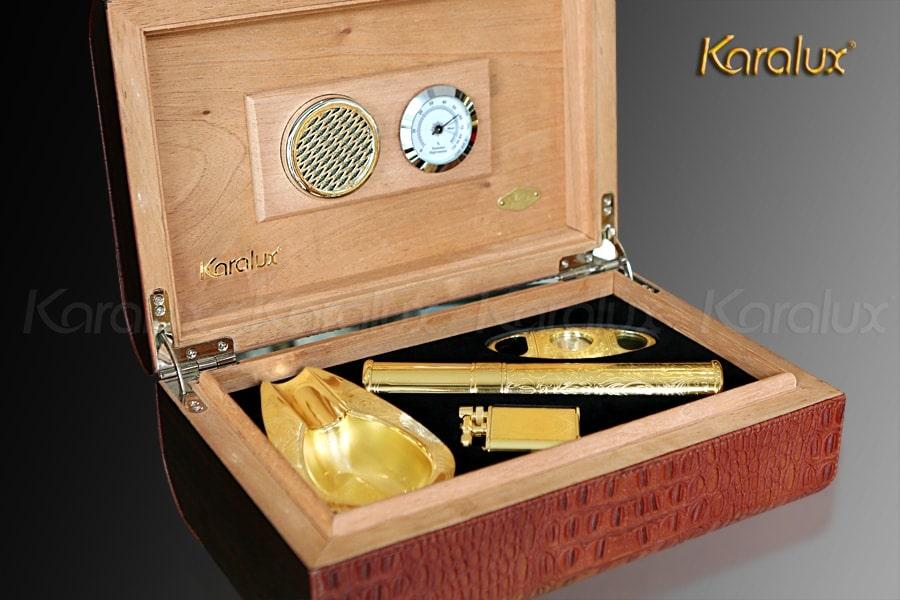 Bộ gạt tàn Cigar mạ vàng