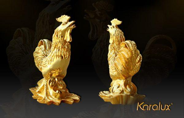 Tượng Gà vàng sung túc - TLV-12CG10-1 1