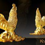 Tượng Gà vàng sung túc - TLV-12CG10-1 3