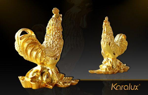 Tượng Gà vàng sung túc - TLV-12CG10-1 2